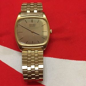 Seiko Quartz vintage gold watch